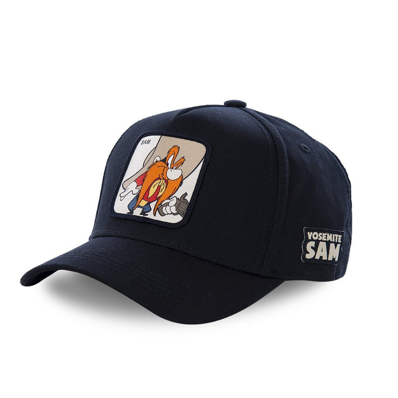 TRUCKER CAP CAPSLAB LOONEY TUNES YOSEMITE SAM BLACK - Rose London