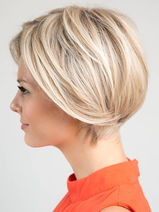 Cool White Gold Short Wig