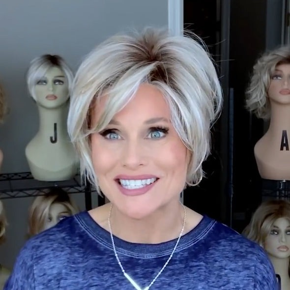 Linen White Gold Short Wig