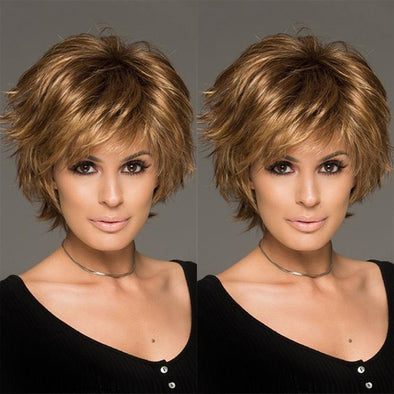 Sky Brown Short Wig