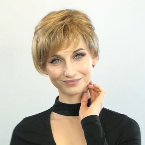 Romantic Love Brown Gold Short Wig