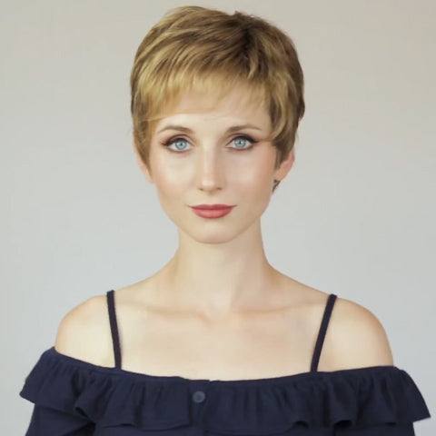 Temperament Gold Short Wig