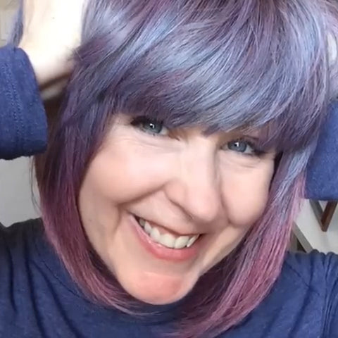 2021 Gradient Blue Purple Wig