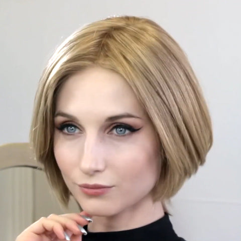 Romantic Linen Gold Short Wig