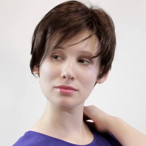 Romantic Party Black Short Wig