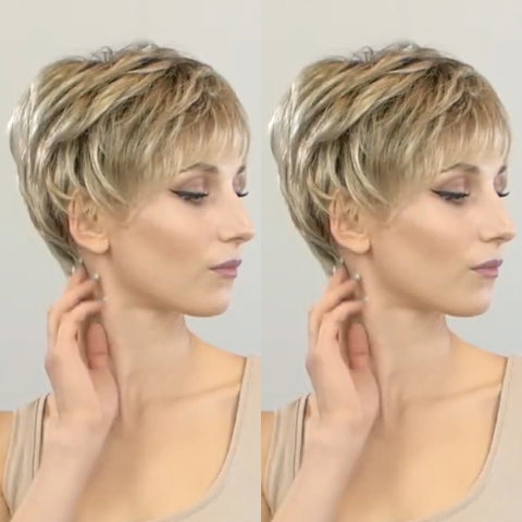 Romantic Love Gold Short Wig
