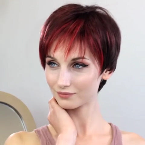 Sweet Love Wine Red Short Wig