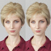 Romantic Fresh Linen White Gold Short Wig