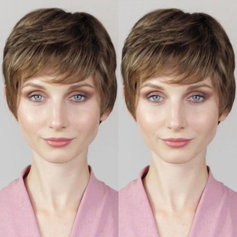 Romantic Fresh Brown Short Wig