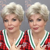 Casual Romantic Linen White Gold Short Wig