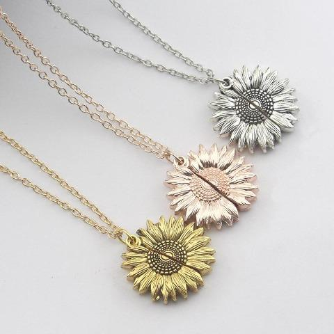 "🌻""In World Full Of Roses Be A Sunflower"" Unique Sunflower Necklace"
