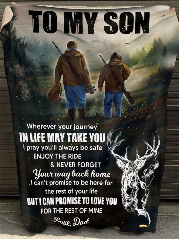 To My Son - Hunting Life - Blanket
