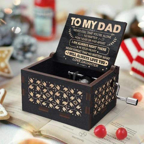 Daughter To Dad ( Never Feel That You're Alone ) Black Music Box