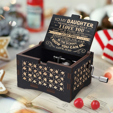 Dad To Daughter ( Never Forget That I Love You ) Black Music Box