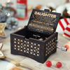Dad To Daughter ( I Will Always Carry You In My Heart ) Black Music Box