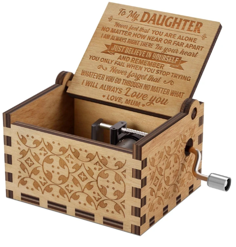 Mum To Daughter ( Believe In YourSelf ) Engraved Music Box