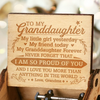 Grandma To Granddaughter ( MY GRANDDAUGHTER FOREVER ) Engraved Music Box