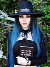 Black Ombre Blue Long Front Wig