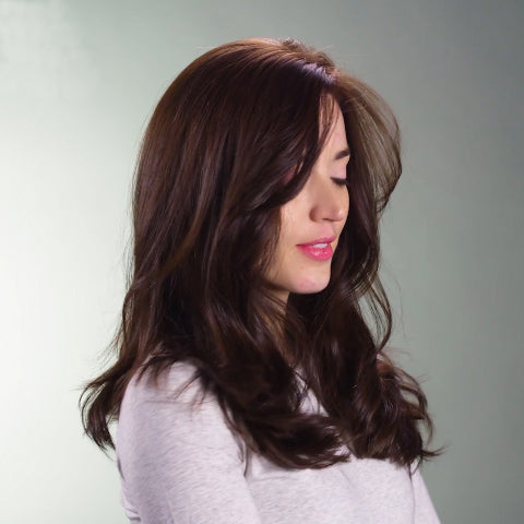 Temperament Light Brown Medium Long Wavy Wig