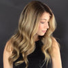 Super fashion light brown medium long wave wig