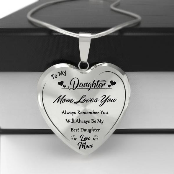 To My Daughter Heart Necklace-Love