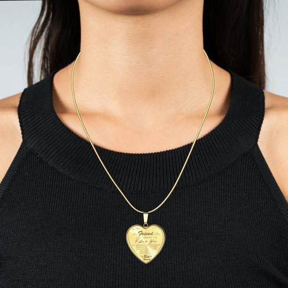 To My Best Friend Heart Necklace