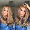 Gold Brown Long Wig