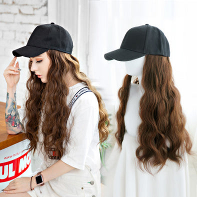 Baseball Cap Water Ripple Wig