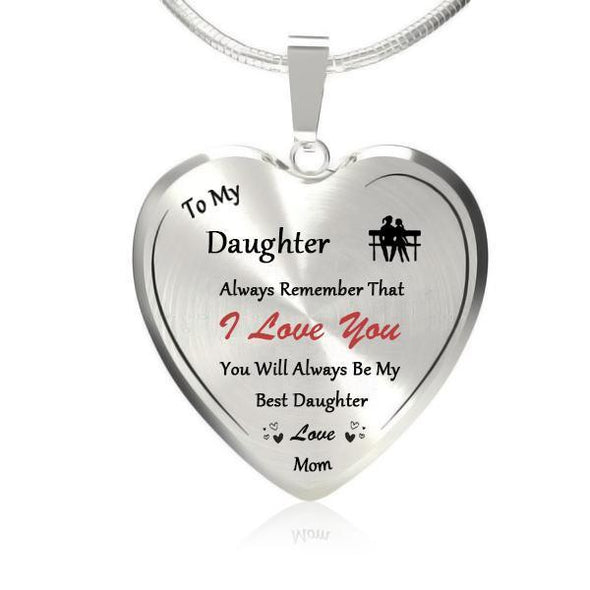To My Daughter Heart Necklace-Forever