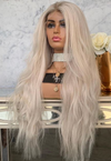 Glamour White Gold Long Volume Wig