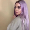 Luxury lavender purple wig