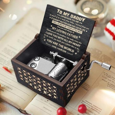 Son To Dad - I love you with all my heart - Black Music Box