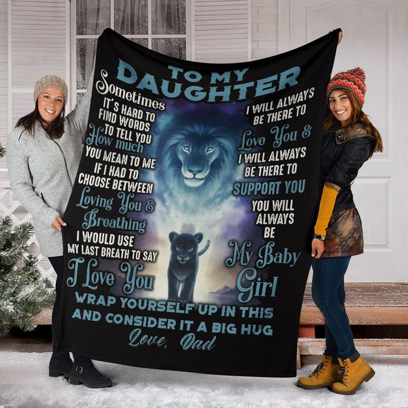 To My Daughter - I Love You(LOVE MOM)- Blanket