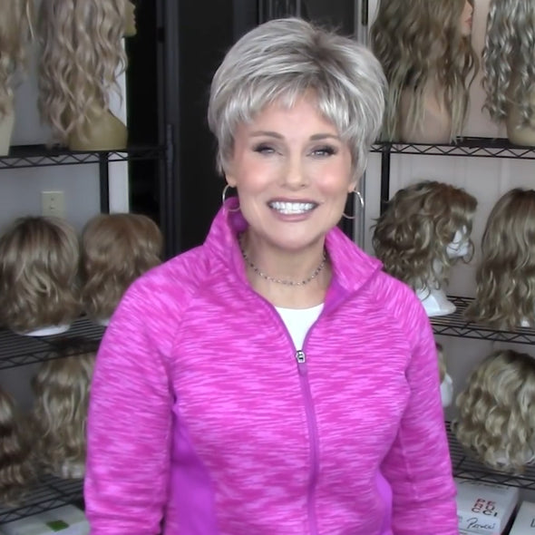 Charm Silver Gray Short Wig