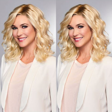 Queen Gold Middle Length Wave Wig