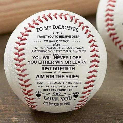 To My Daughter - You Will Never Lose - Baseball