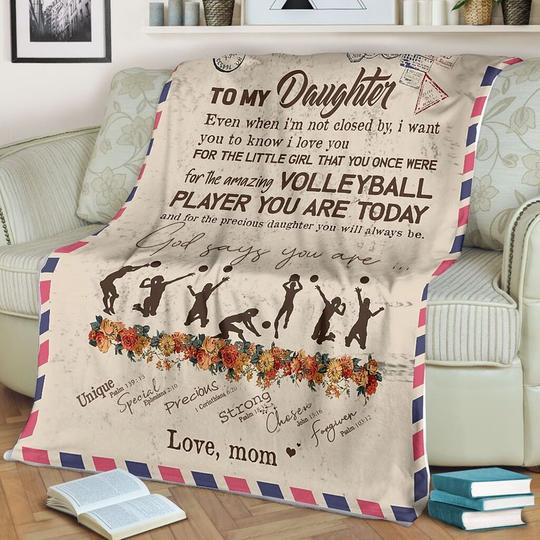 To My Daughter - VOLLEYBALL PLAYER YOU ARE TODAY(LOVE MOM)- Blanket