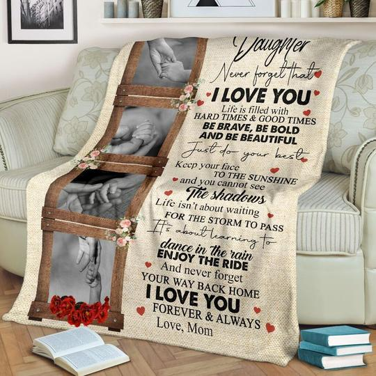 To My Daughter - I LOVE YOU - Blanket