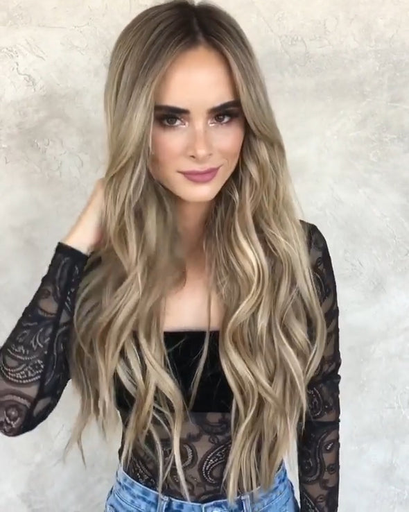 Gold Brown Long Wave Wig