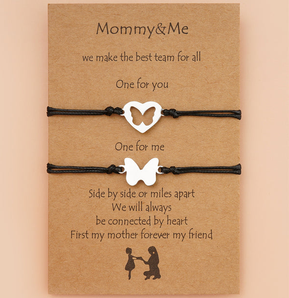 Mother's Day Card Hollow Butterfly Bracelet