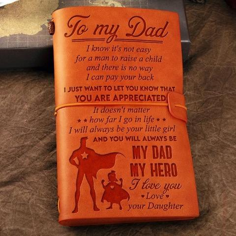 Daughter To Dad - I love you - Vintage Journal