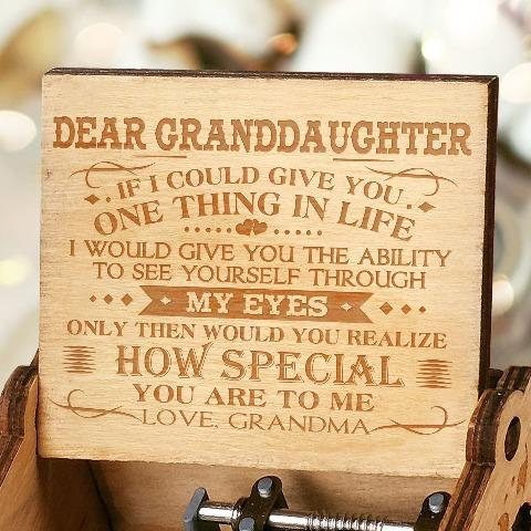 Grandma To Granddaughter ( One Thing In Life ) Engraved Music Box