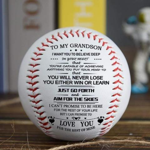 To My Grandson - You Will Never Lose - Baseball