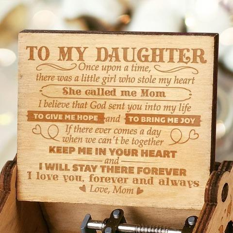 Mom To Daughter ( Keep Me In Your Heart ) Engraved Music Box