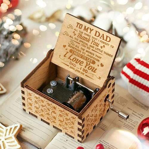 Son To Dad ( I Need To Say I Love You ) Engraved Music Box