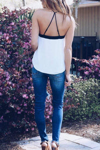 Asymmetric Hem Backless Camis
