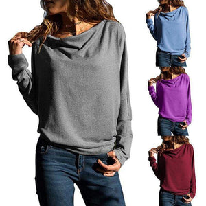 Fashion Long Batwing Sleeve Plain T-Shirts