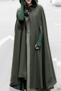 Hooded  Plain Cape