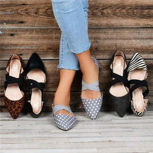 Fashion Pointed Formal Elastic Flat Bottom Single Shoes
