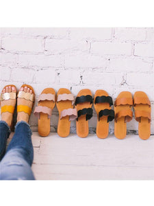 Fashion Versatile Simple Flat   Slippers